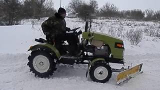 getlinkyoutube.com-Минитрактор полноприводный ДВ 154.. Зима 2017г.