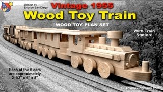 getlinkyoutube.com-Wood Toy Plans - Vintage 1955 Wood Toy Train