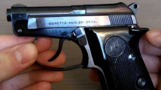 getlinkyoutube.com-Beretta Model 20 .25 Cal RARE
