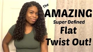 getlinkyoutube.com-Relaxed Hair | AMAZING Flat Twist Out