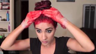 getlinkyoutube.com-Dying My Hair Red | Red Ombré Hair Tutorial