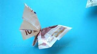 getlinkyoutube.com-Geldscheine falten für Geldgeschenke: Schmetterling