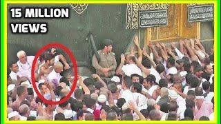 getlinkyoutube.com-Struggle to Touch Hajr e Aswad Black Stone Hajar 2015 Makkah Live Umrah Hajj