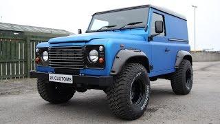 getlinkyoutube.com-Landrover Defender full wrap in Arlon Blue Aluminium - 2K Customs Inverness
