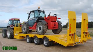 Stronga LowLoada 800 trailer - Reliably transporting a Manitou telehandler
