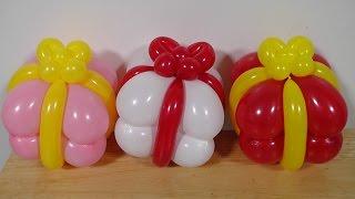 プレゼントバルーンの作り方(バルーンアート) present balloon (balloon twisting)