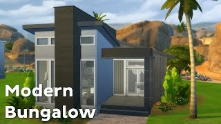 getlinkyoutube.com-The Sims 4: House Building - Modern Bungalow