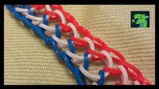getlinkyoutube.com-Dragon Scale Bracelet on Two Pencils (4 peg )
