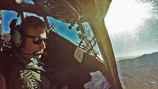 C-17 Globemaster III Low-Altitude Flyovers - Cockpit View (Veterans Day 2016) width=