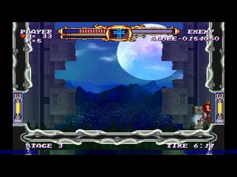 Castlevania: The Adventure ReBirth Walkthrough (Stage 3)