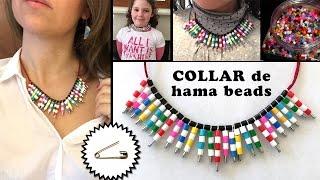 getlinkyoutube.com-Collar de imperdibles y hama beads