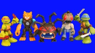 getlinkyoutube.com-Nickelodeon Teenage Mutant Ninja Turtles Half Shell Heroes Tiger Claw Stockman Shredder Splinter Leo