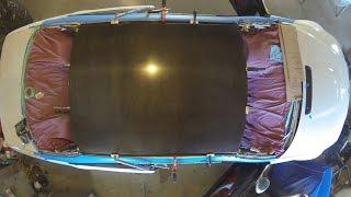 getlinkyoutube.com-E46 M3 Carbon Fiber Roof Install Time Lapse