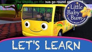 "getlinkyoutube.com-Let's Learn ""Wheels On The Bus"" Part 1 | With LittleBabyBum!"