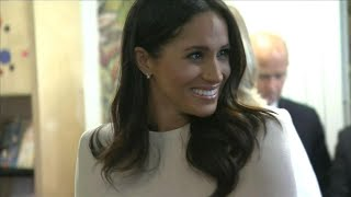 Meghan Markle Seemingly Debuts British Accent -- Watch! width=