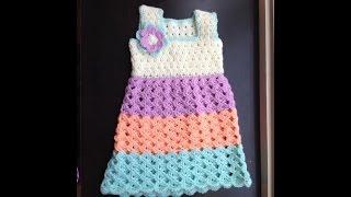 getlinkyoutube.com-Baby dress - standard bodice crochet tutorial in Tamil/English