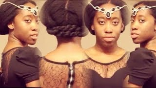 getlinkyoutube.com-30 Second EASY Protective Hairstyle For Hair Growth | Updo | Autumn Winter Fall Ideas | ♥