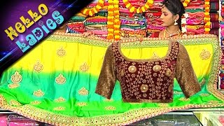 getlinkyoutube.com-Bhogi Festival Special Pattu & Tie And Dye Designer Sarees || Hello Ladies || Vanitha TV