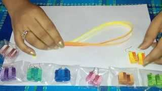 getlinkyoutube.com-3. How to make Double Shaded Paper Weaving Earrings