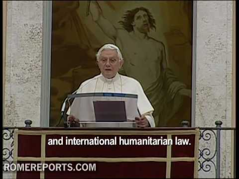 Pope expresses profound satisfaction with the avoidence of Cluster Munitions