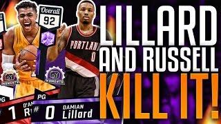 NBA 2K17 MYTEAM AMETHYST DAMIAN LILLARD & RUBY D'ANGELO RUSSELL GAMEPLAY!