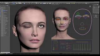 getlinkyoutube.com-Fully Rigged 3DS Max Female Woman / Gril Human Character W Facial & Full Body Rigs Ready to Animate