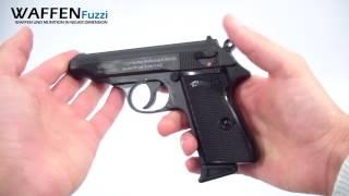 getlinkyoutube.com-Walther PP kal. 9mm P.A.K - Schreckschuss-Waffen Test, Gas Pistole, www.waffenfuzzi.de
