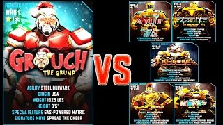 getlinkyoutube.com-Real Steel WRB GROUCH VS ATOM GOLD & ZEUS GOLD & TRI GORE & METRO GOLD & MIDAS GOLD