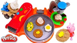 getlinkyoutube.com-Play Doh Breakfast Café New Playdough Frying Pan Makes Play-Doh Waffles Eggs Bacon 2015 Toys
