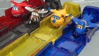 getlinkyoutube.com-Super Wings Toys Parking Brinquedos harika kanatlar Oyuncak 슈퍼윙스 장난감 이륙놀이