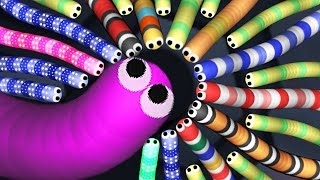 Slither.io  - Мультяшная игра про Червяка! #2. Канал Принцесса Милана