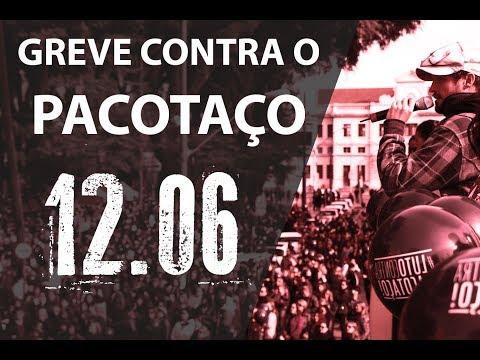 Primeiro dia de greve dos servidores municipais contra o PACOTAÇO