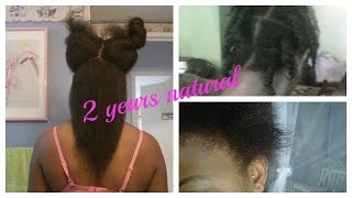 2 year Natural Hair journey 2012-2014