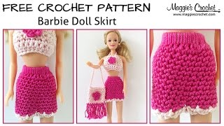 Doll Skirt Free Crochet Pattern - Right Handed