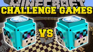 getlinkyoutube.com-Minecraft: DANTDM VS THEDIAMONDMINECART CHALLENGE GAMES - Lucky Block Mod - Modded Mini-Game