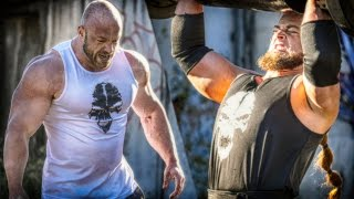 getlinkyoutube.com-Bodybuilder VS Strongman - STRENGTH WARS 2k15 #6