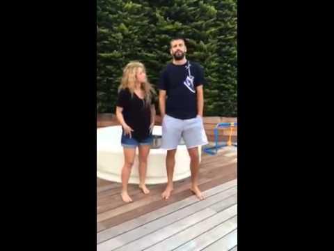 Shakira and Pique ALS Ice Bucket Challenge