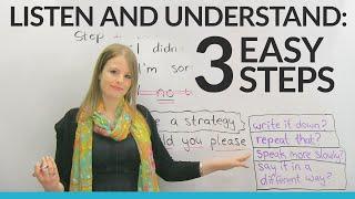 LISTENING& UNDERSTANDING in 3 Easy Steps