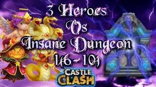 getlinkyoutube.com-Castle Clash 3 Heroes Vs Insane Dungeon 1 ( 6-10 )