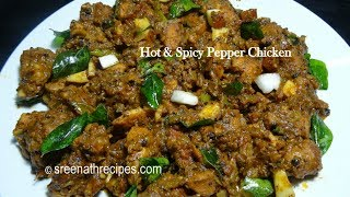 getlinkyoutube.com-Hot and Spicy Pepper Chicken - Chettinad Pepper Chicken - Pepper Chicken Recipe