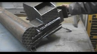 """getlinkyoutube.com-Piec rakietowy stalowy """"Rycerz"""". Steel Rocket Stove """"Knight"""" DIY. by Multipodwórko part 2/3."""