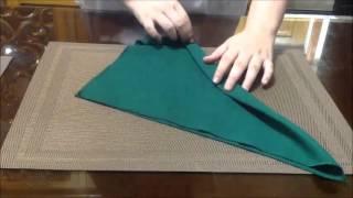 getlinkyoutube.com-10 Different Table Napkin Folds