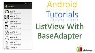 93 Android Custom ListView With BaseAdapter  
