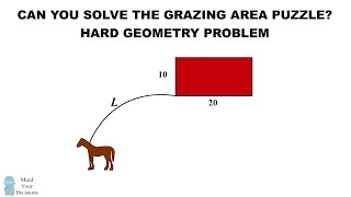getlinkyoutube.com-Can You Solve The Horse Grazing Puzzle? HARD Geometry Problem