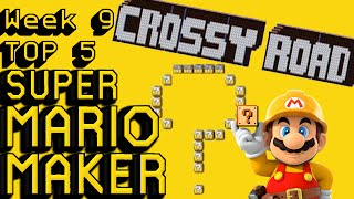 getlinkyoutube.com-Super Mario Maker | Crossy Road & Mario Quiz | Top 5 Week 9