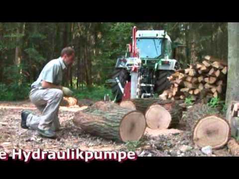Despicator vertical cu troliu pentru lemn de foc