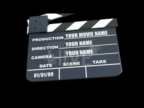 Movie Clapper animation After Effects Project