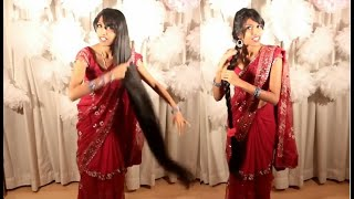 getlinkyoutube.com-Hairstyle for a wedding saree