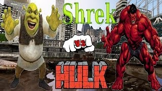 getlinkyoutube.com-SHREK VS RED HULK - EPIC BATTLE - GTA 4