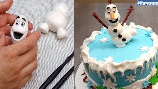 getlinkyoutube.com-Frozen Olaf Cake - How To Make